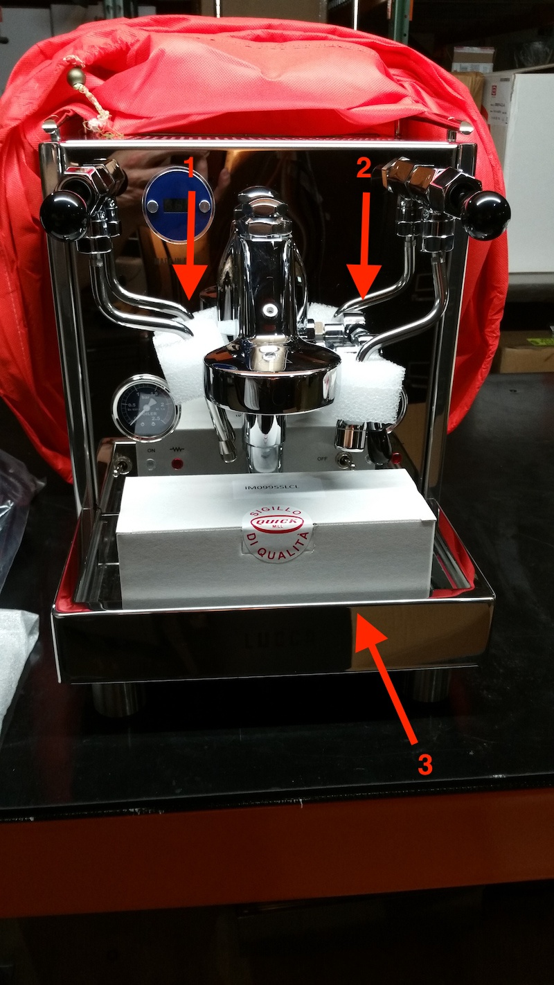 Repackaging the Quick Mill LUCCA M58