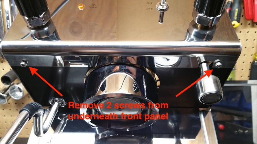 Profitec Pro 300 espresso machine panel removal instructions