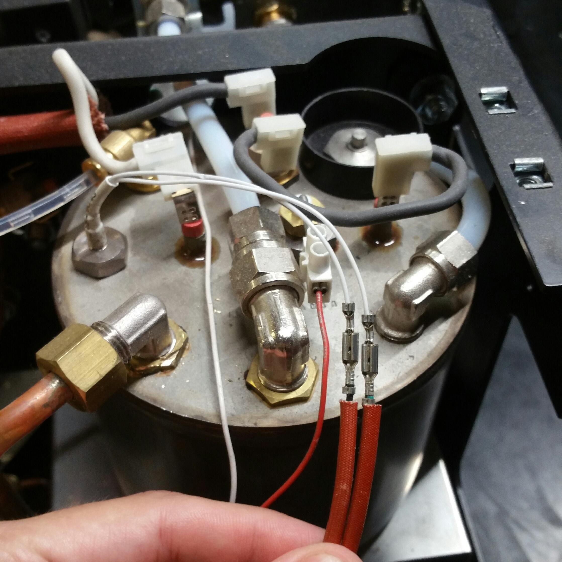 LUCCA A53 Mini / Mini Vivaldi: Removing Steam Boiler Temperature Probe