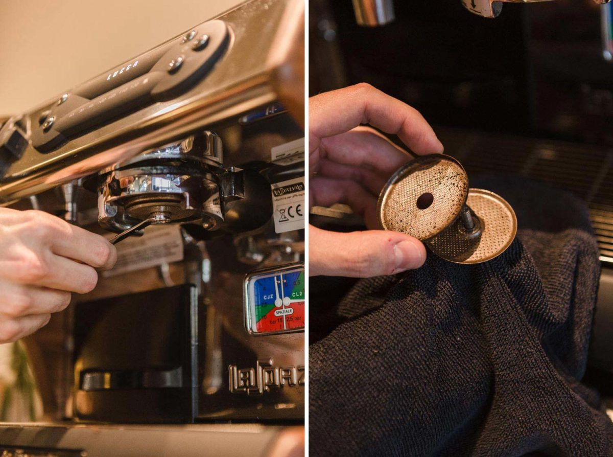 Removing and Cleaning Group Head Screens on Espresso Machines