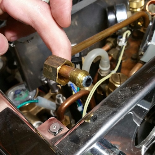 Alex Duetto: Scale at the Steam/Hot Water Arm Inlet