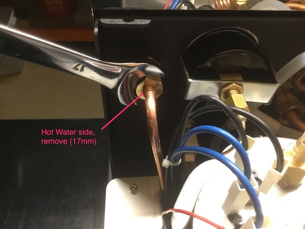 ECM Synchronika: Hot Water Valve Seal Inspection/Replacement