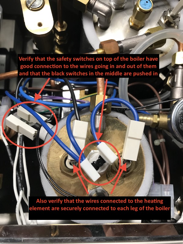 Profitec Pro 300: Coffee Boiler Electrical Issue