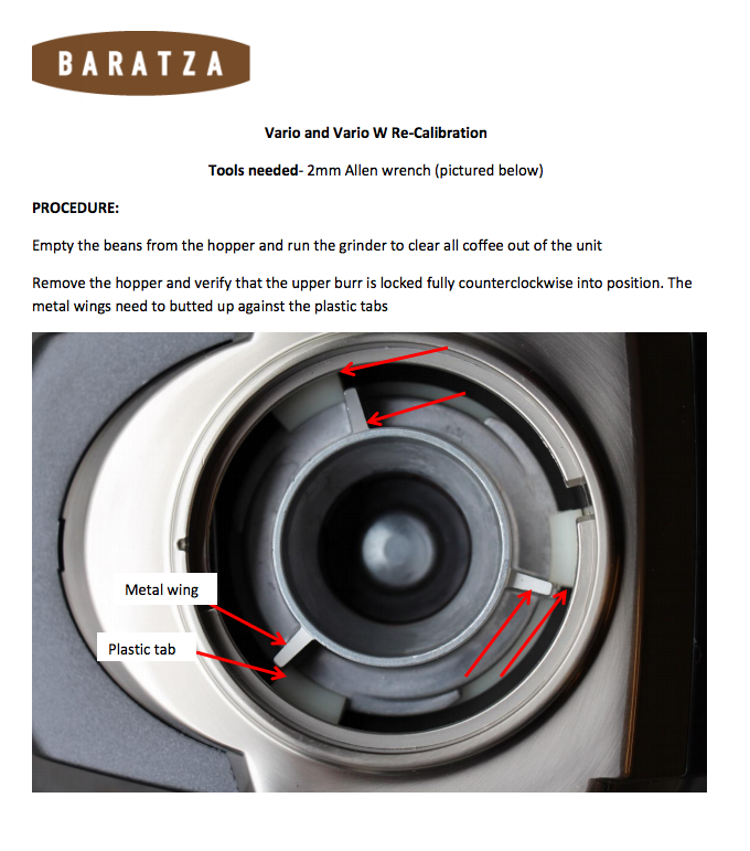 Baratza Vario: Calibrating Your Grinder