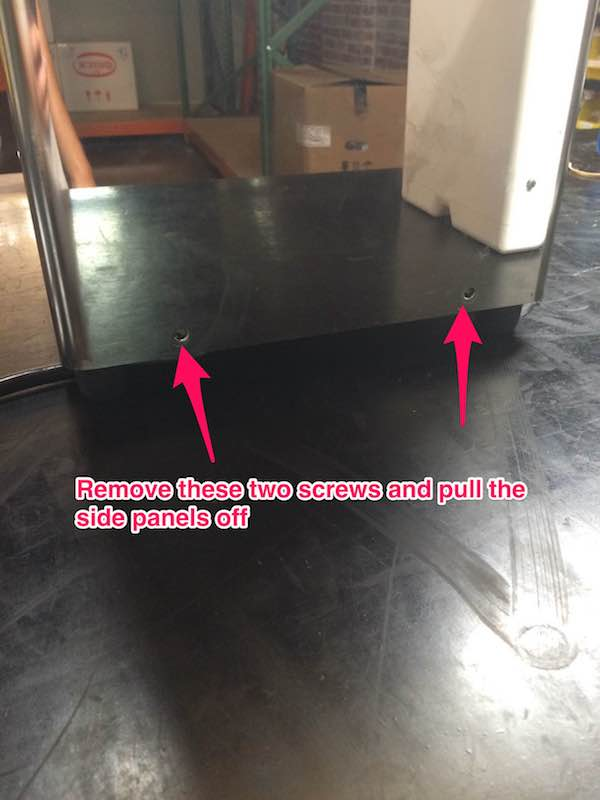 Quick Mill QM67 - Panel Removal