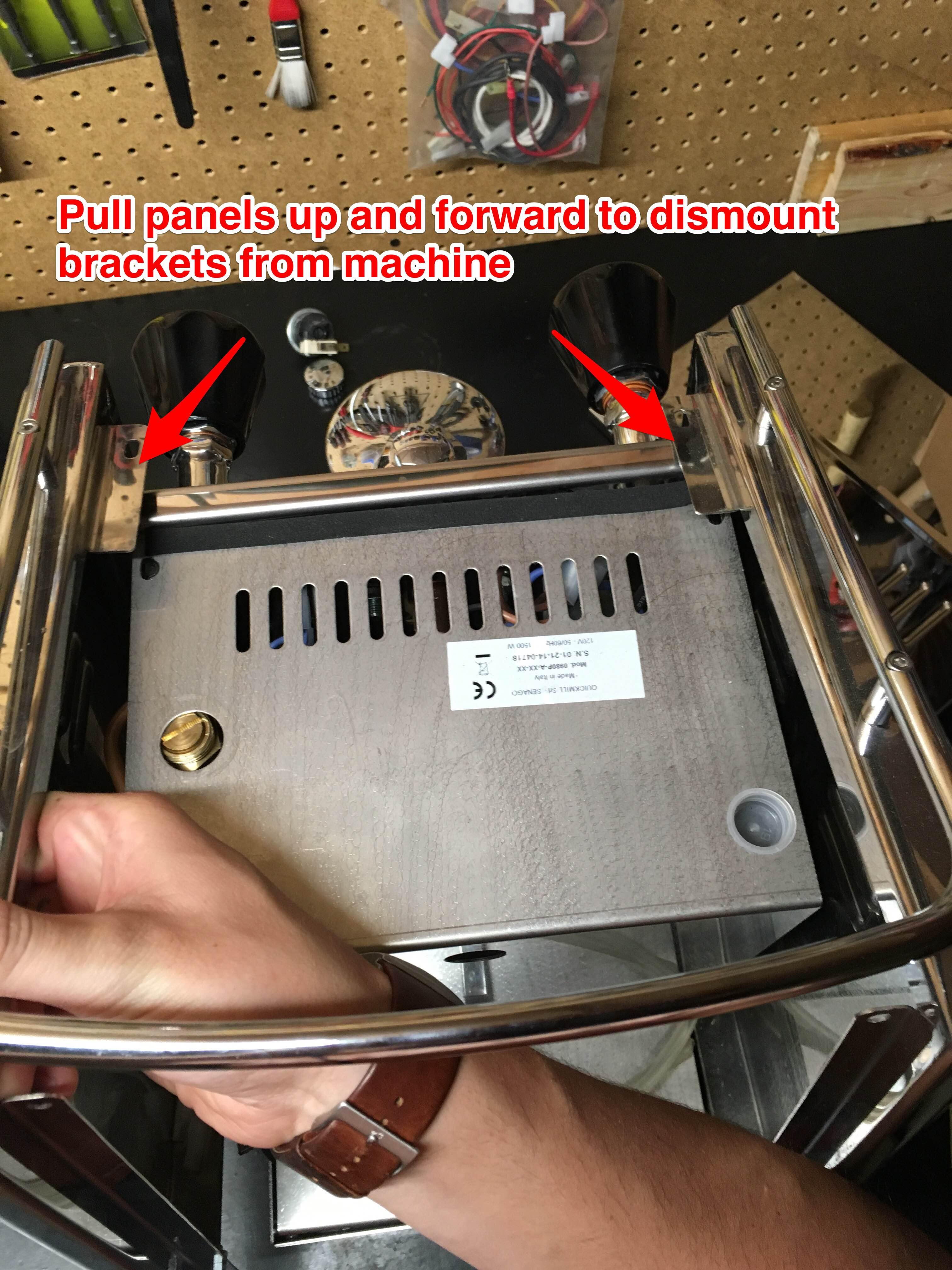 Quick Mill Andreja Premium: Panel Removal