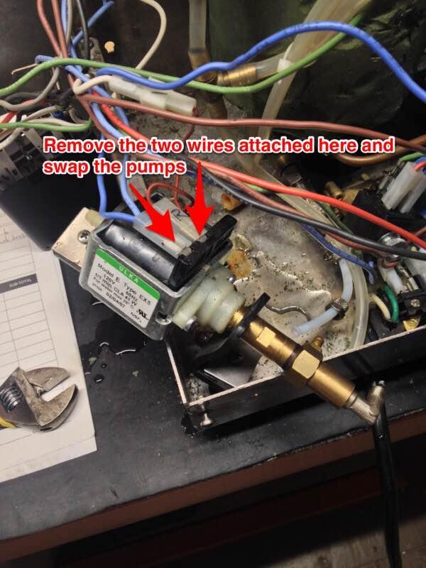 Quick Mill Andreja Premium / QM67: Pump Removal